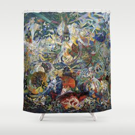 Battle of Lights, Coney Island, Mardi Gras by Joseph Stella (1914) Shower Curtain