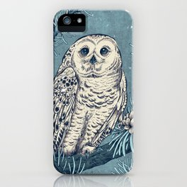 Winter Snowy Owl iPhone Case