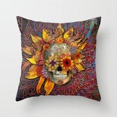 Origins Botaniskull  Throw Pillow