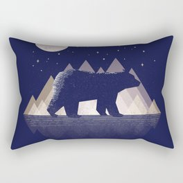 Moon Bear - Geometric, bear shirt, stars, mountains, animal t shirt, animal print t shirt, wildlife Rectangular Pillow