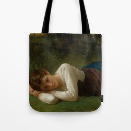 """William-Adolphe Bouguereau """"Le Repos (Jeune Fille Couchée)(Young Girl Lying Down)"""" Tote Bag"""