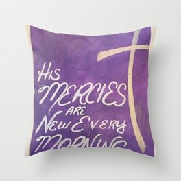 New Every Morning Cross Throw Pillow
