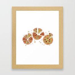 Pizza Party Framed Art Print