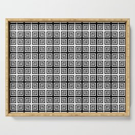 Square Pair Dance of Illusions Serving Tray