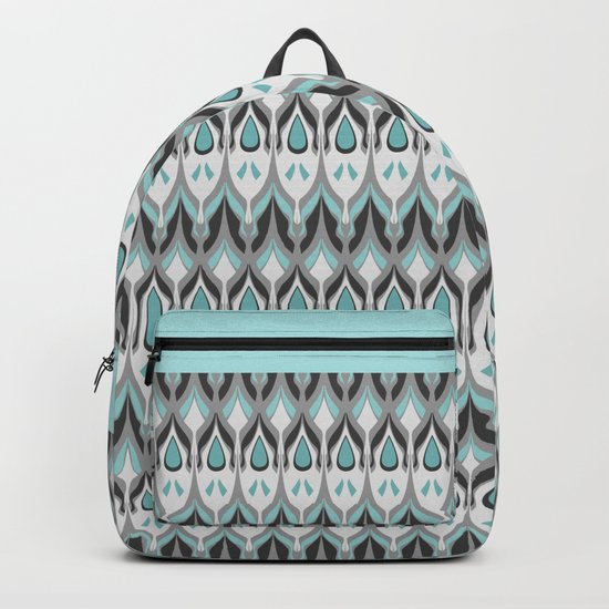 Abstract grey blue zigzag . Backpack