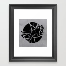 Broken Record Framed Art Print