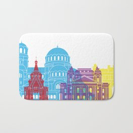 Sofia skyline pop Bath Mat