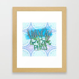 Bravery Hides In Amazing Places (The One) Framed Art Print