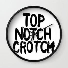 Top Notch Crotch Wall Clock