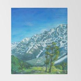 Himalaya mountains Throw Blanket