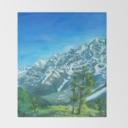 Himalaya mountains Throw Blanket