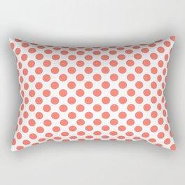 Living Coral Small Polka Dots Rectangular Pillow