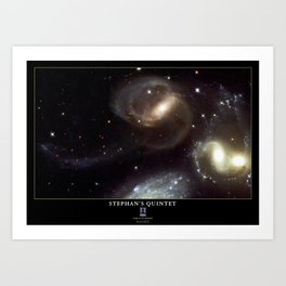 NASA Hubble Space Telescope Poster - Stephan's Quintet Art Print