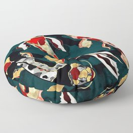 Metallic Koi Floor Pillow