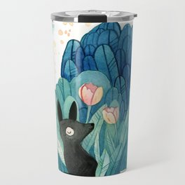Wolf and Tulip Travel Mug