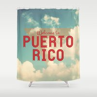puerto rico Shower Curtains featuring Puerto Rico by Ákos Kőrös