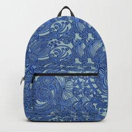 Dark Navy Offset Paisley Backpack