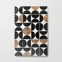 Mid-Century Modern Pattern No.1 - Concrete and Wood Metal Print