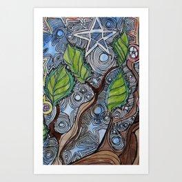 cosmic tree Art Print