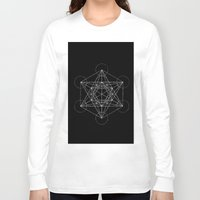 sacred geometry Long Sleeve T-shirts featuring Sacred Geometry Print 4 by poindexterity