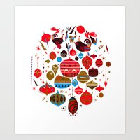 xmas Art Prints featuring xmas by echo3005