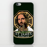 ale giorgini iPhone & iPod Skins featuring St. James Bitter Ale by Ant Atomic