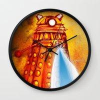 dalek Wall Clocks featuring Dalek by Tony DaBronzo