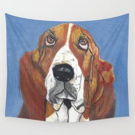 Xavier the Basset Hound Wall Tapestry