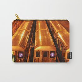 New York Queens Subway 7 Train Yard Carry-All Pouch