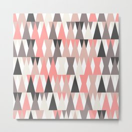triangles pattern Metal Print