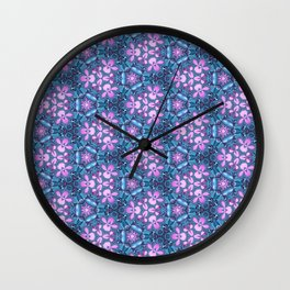 Abstract orchids pattern Wall Clock