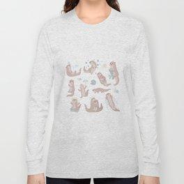 Otter Happy The World Long Sleeve T-shirt