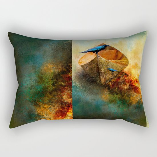 Beached Crow Rectangular Pillow