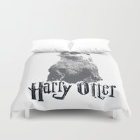 otter Duvet Covers featuring Harry Otter by Tawd86