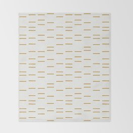 OCHRE LINE Throw Blanket