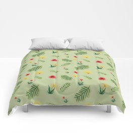 Countryside ferns Comforters