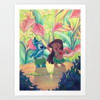 ohana Art Prints featuring Ohana by ArtByG
