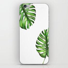 Monstera green leaves iPhone Skin