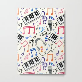 Good Beats - Music Notes & Symbols Metal Print