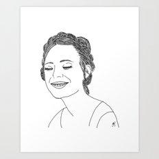 Elle Fanning Art Print