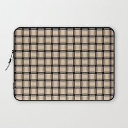 Small Bisque Brown Weave Laptop Sleeve