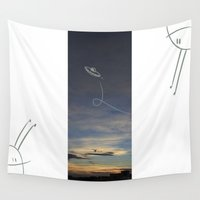 ufo Wall Tapestries featuring UFO by Creative Soul