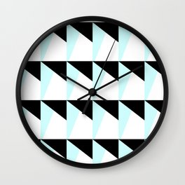Trichromatic Geometrical Pattern Wall Clock