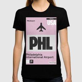 PHL Philadelphia airport code T-shirt