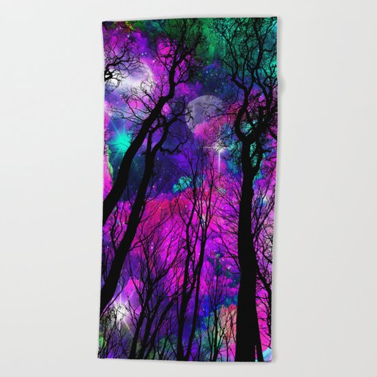 Magical forest Beach Towel