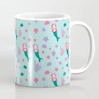 mermaids Mugs featuring Mermaids by S. Vaeth