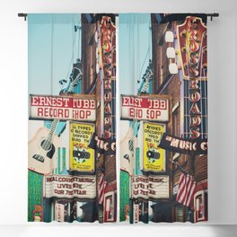 Lower Broadway, Nashville print  Blackout Curtain