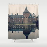 castle Shower Curtains featuring Castle by DuniStudioDesign