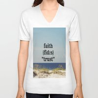 faith V-neck T-shirts featuring Faith by KimberosePhotography