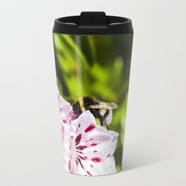 Bumblee - Pink flower  Travel Mug